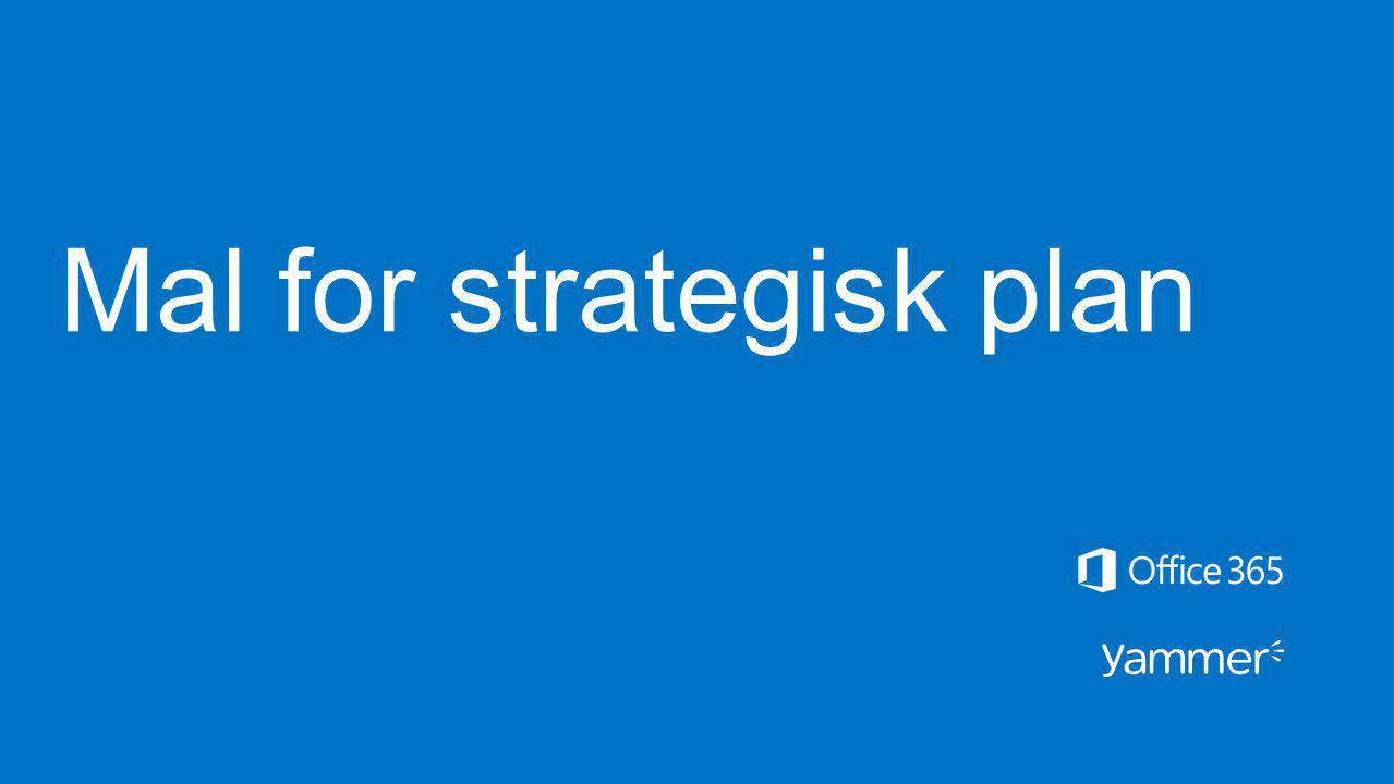 Mal for strategisk plan