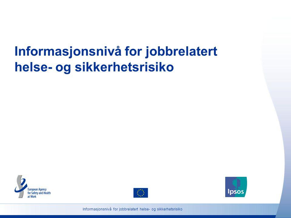Informasjonsnivå for jobbrelatert helse- og sikkerhetsrisiko