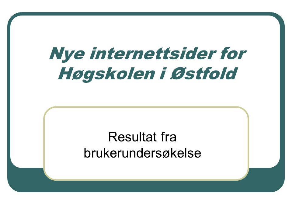 Nye internettsider for Høgskolen i Østfold Resultat fra brukerundersøkelse