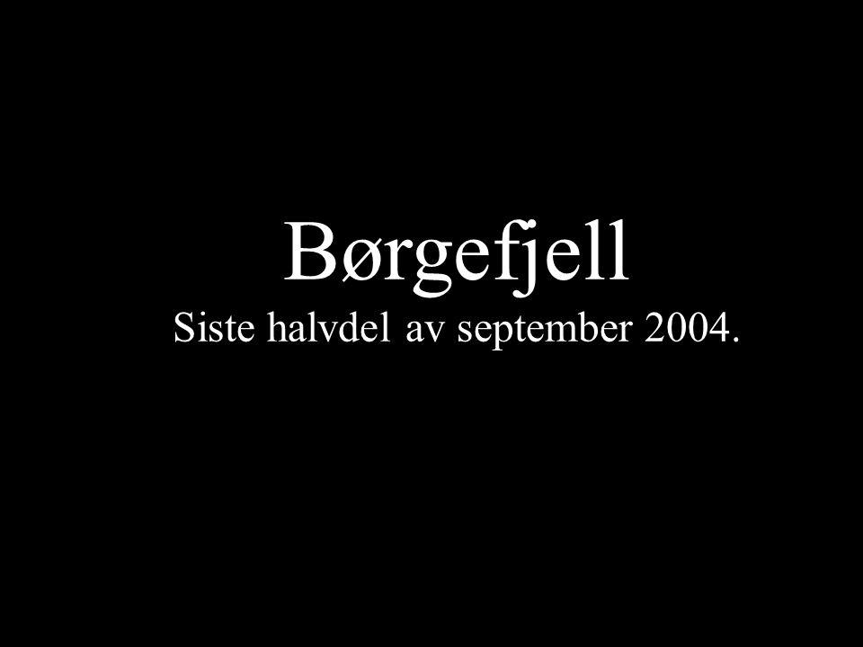Børgefjell Siste halvdel av september 2004.