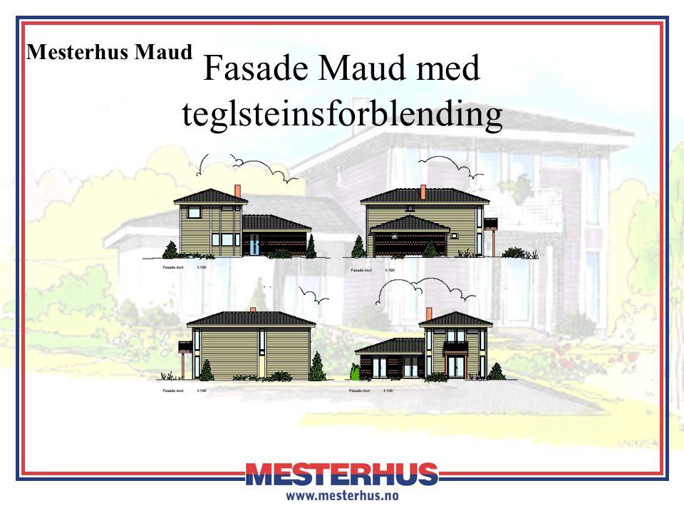 Mesterhus Maud Fasade Maud med teglsteinsforblending