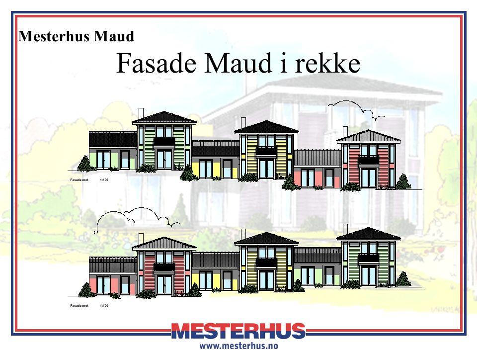 Mesterhus Maud Fasade Maud i rekke