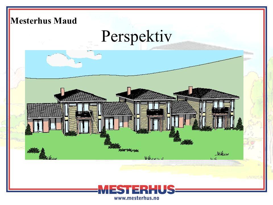 Mesterhus Maud Økonomi Husbanken •Maksimal husbankstørrelse •Livsløpstandard i hovedetasje •Forberedt for maks lånetillegg