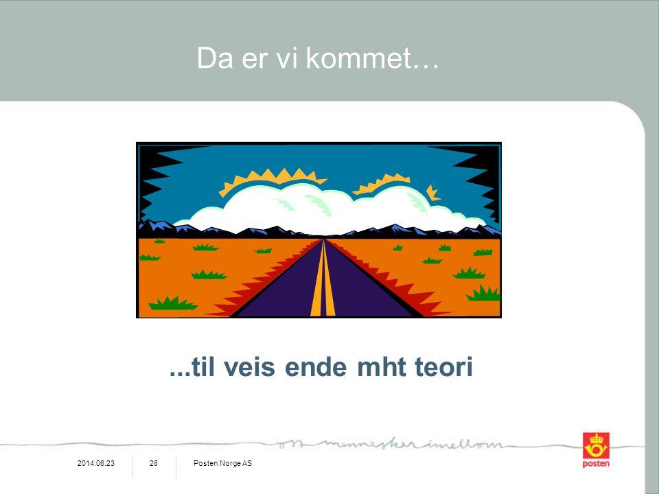 2014.06.23Posten Norge AS28...til veis ende mht teori Da er vi kommet…