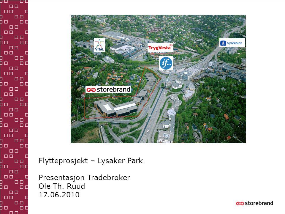 Flytteprosjekt – Lysaker Park Presentasjon Tradebroker Ole Th. Ruud 17.06.2010