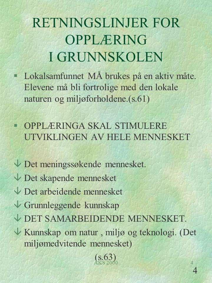 AKS 20005 HEIM- KUNNSKAP NATUR MILJØ SAMF.K & H SOSIAL OPPDRAGELSE KRL NORSK MAT.