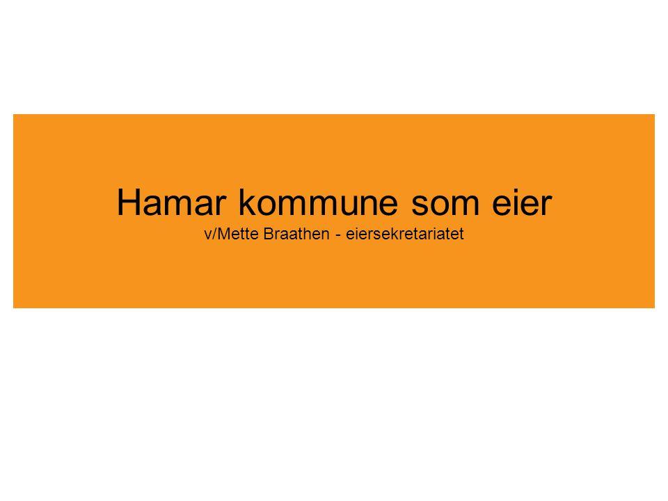 Hamar kommune som eier v/Mette Braathen - eiersekretariatet