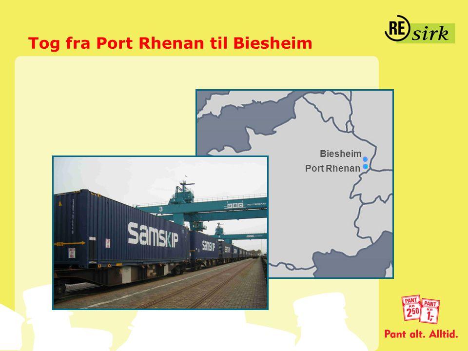 Tog fra Port Rhenan til Biesheim Port Rhenan Biesheim