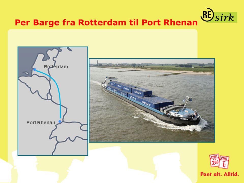 Per Barge fra Rotterdam til Port Rhenan Rotterdam Port Rhenan