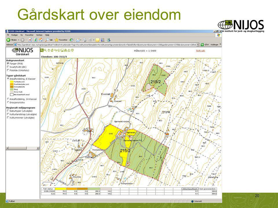 NIJOS-foredrag20 Gårdskart over eiendom