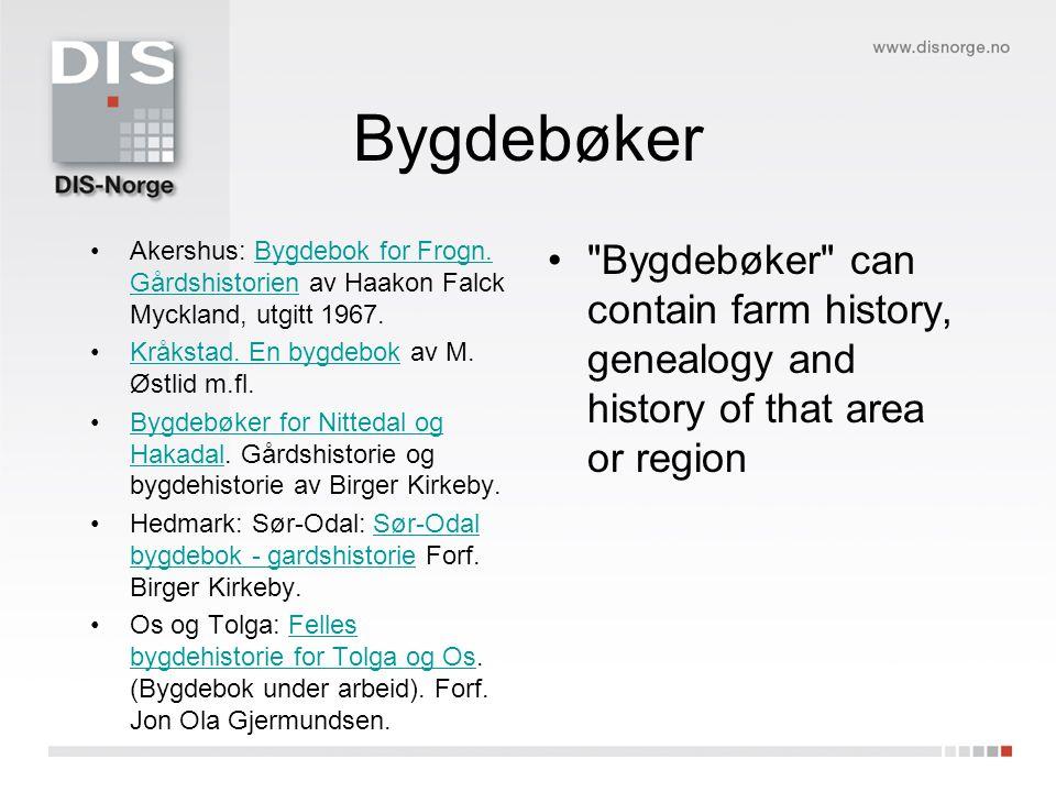 Bygdebøker •Akershus: Bygdebok for Frogn.
