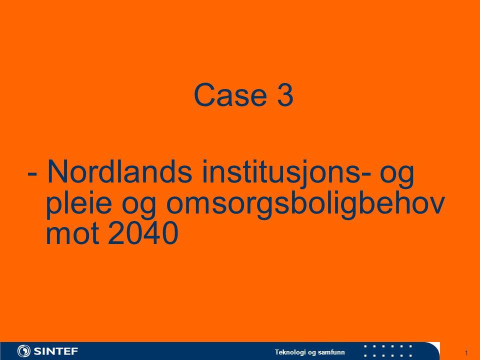 Teknologi og samfunn 1 Case 3 - Nordlands institusjons- og pleie og omsorgsboligbehov mot 2040