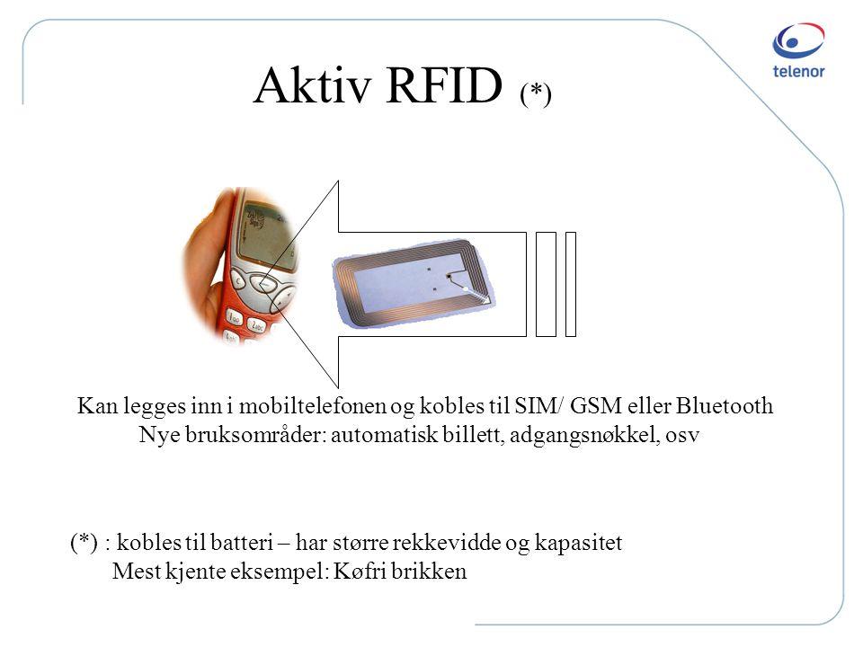 Jeg har dermed ikke sagt at All RFID tekno skal mistenkeliggjøres: Det finnes teknologier hvor bruker slår av og på brikken, og har dermed bedre kontr