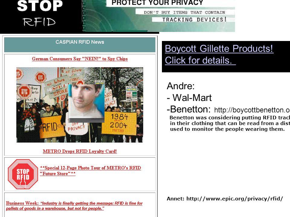 Noen er ogs å bekymret for generell overv å king www.StopRFID.org