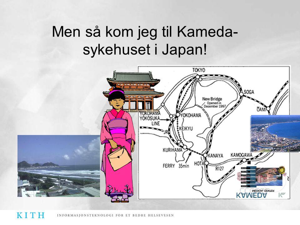 Men så kom jeg til Kameda- sykehuset i Japan!