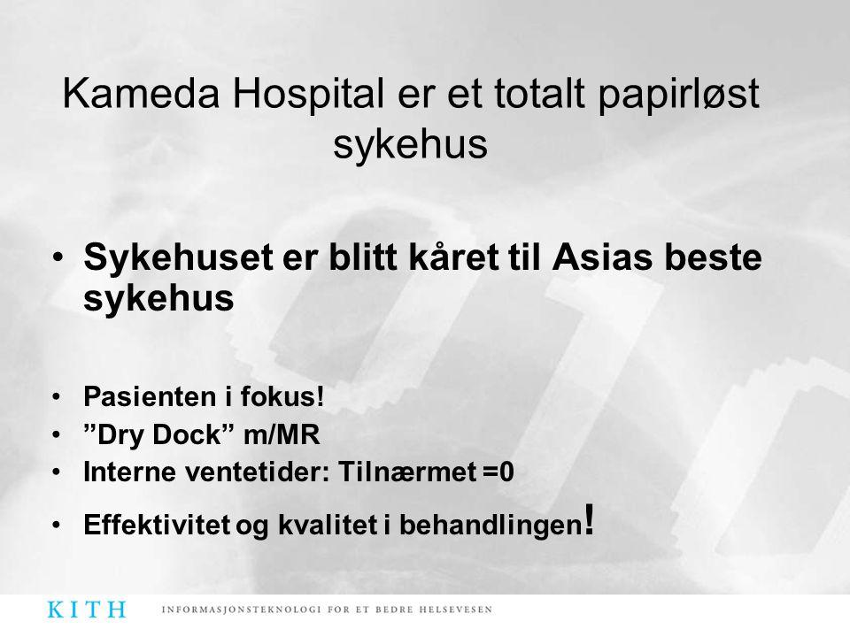 """•Sykehuset er blitt kåret til Asias beste sykehus •Pasienten i fokus! •""""Dry Dock"""" m/MR •Interne ventetider: Tilnærmet =0 •Effektivitet og kvalitet i b"""
