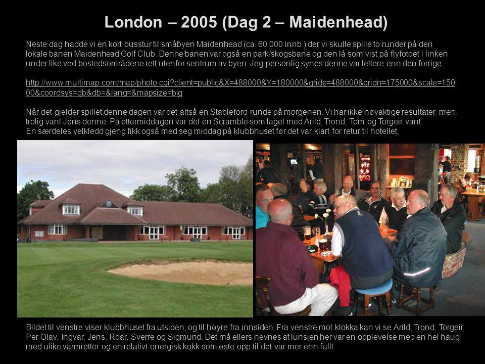 Bildet til venstre viser klubbhuset fra utsiden, og til høyre fra innsiden.