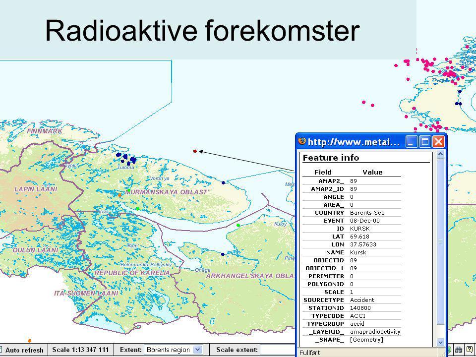 Radioaktive forekomster