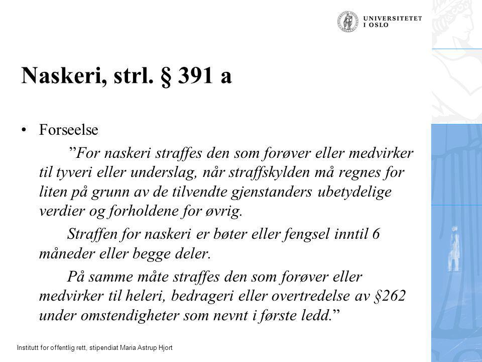 Institutt for offentlig rett, stipendiat Maria Astrup Hjort Naskeri, strl.