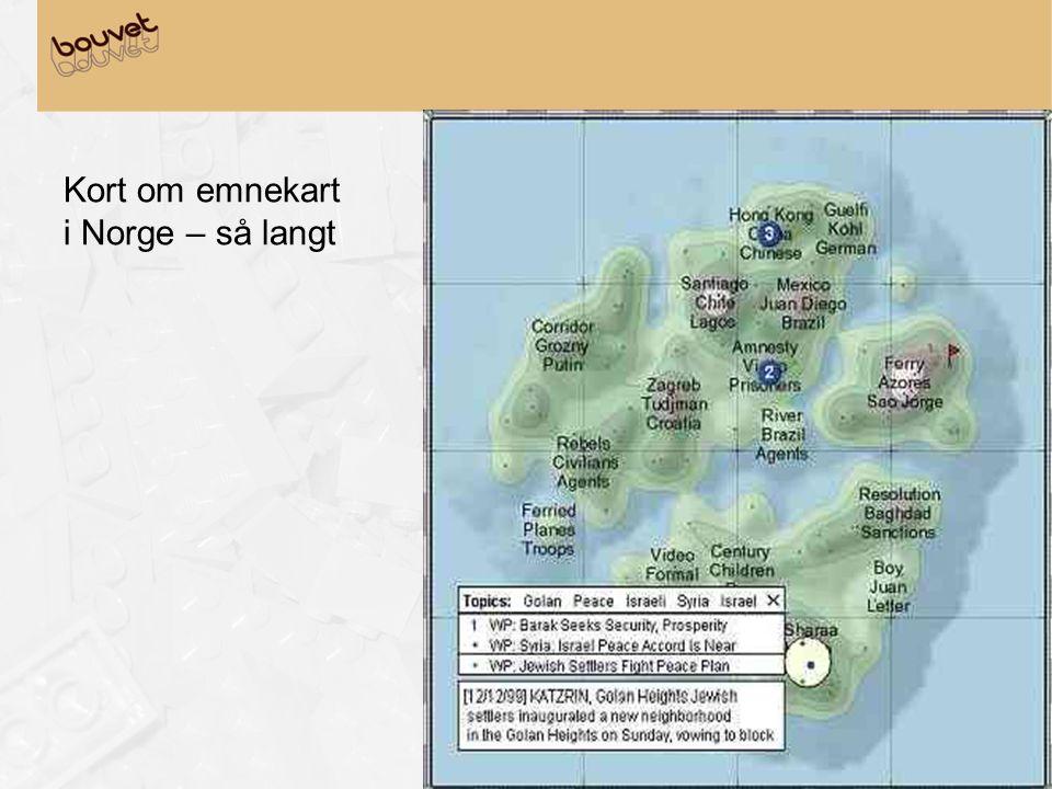 Kort om emnekart i Norge – så langt
