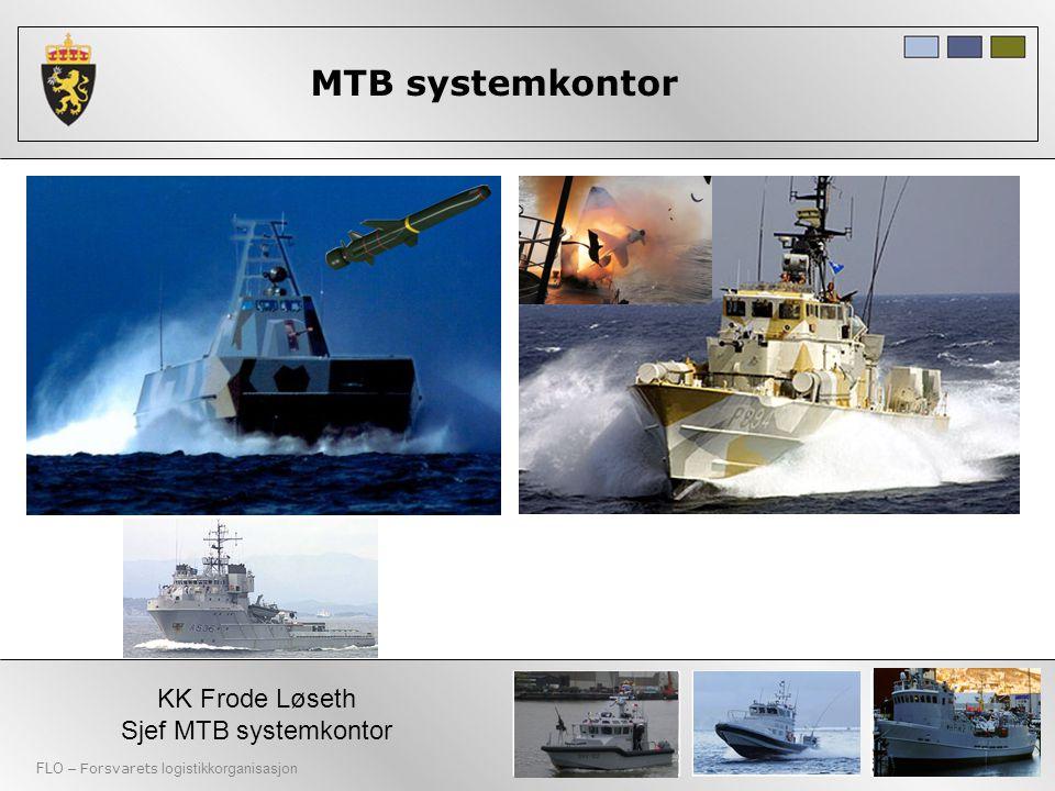 FLO – Forsvarets logistikkorganisasjon MTB systemkontor KK Frode Løseth Sjef MTB systemkontor 4