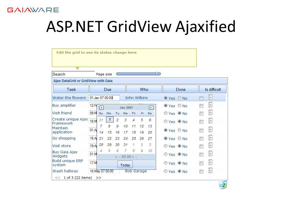 ASP.NET GridView Ajaxified