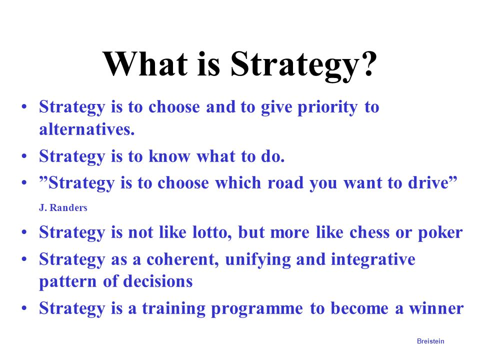 Vision Objectives Strategies Action plan Business results Where do we want to be? What do we want to achieve How do we achieve it? Who does what and w