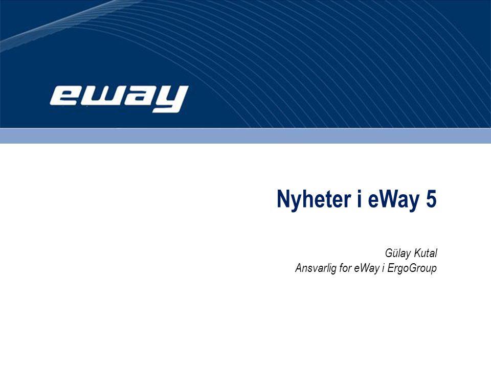 Nyheter i eWay 5 Gülay Kutal Ansvarlig for eWay i ErgoGroup