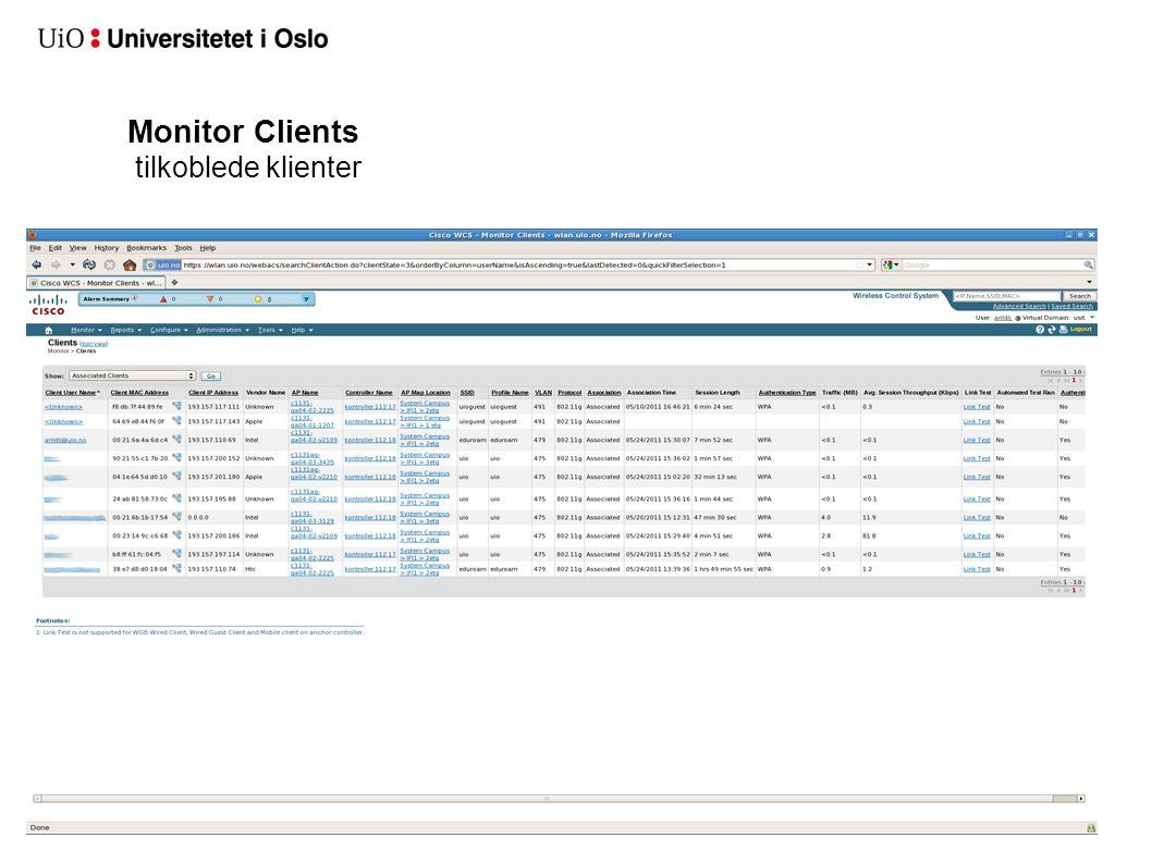 Monitor Clients tilkoblede klienter