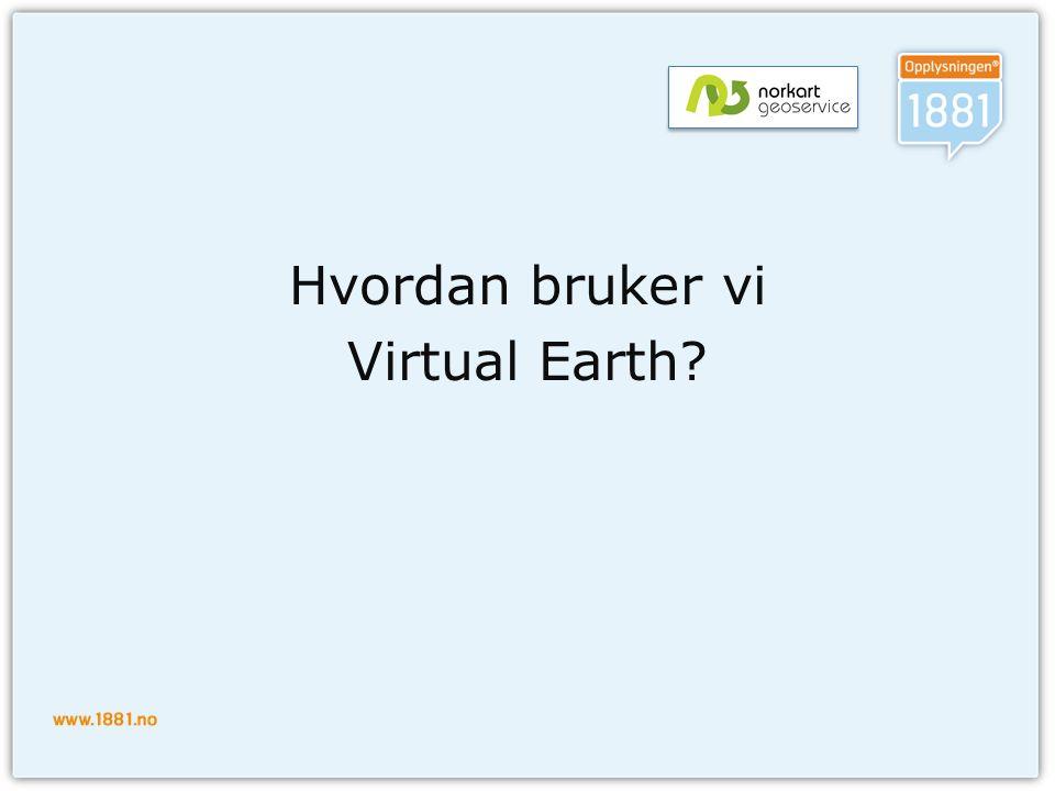 Hvordan bruker vi Virtual Earth?