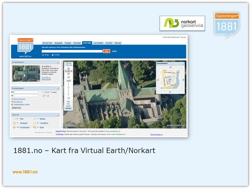 Verktøy og rammeverk  Visual Studio og.Net 2.0  Scriptbibliotek  prototype.js prototype.js  Andre  Kartapi  Virtual Earth 6.2 Virtual Earth 6.2  WebAtlas API WebAtlas API  Debugging  Web Development Helper  IE Developer Toolbar  Firebug  Visual Studio 2005 -> 2008
