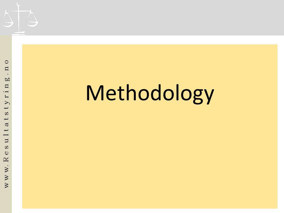 Methodology w w w. R e s u l t a t s t y r i n g. n o