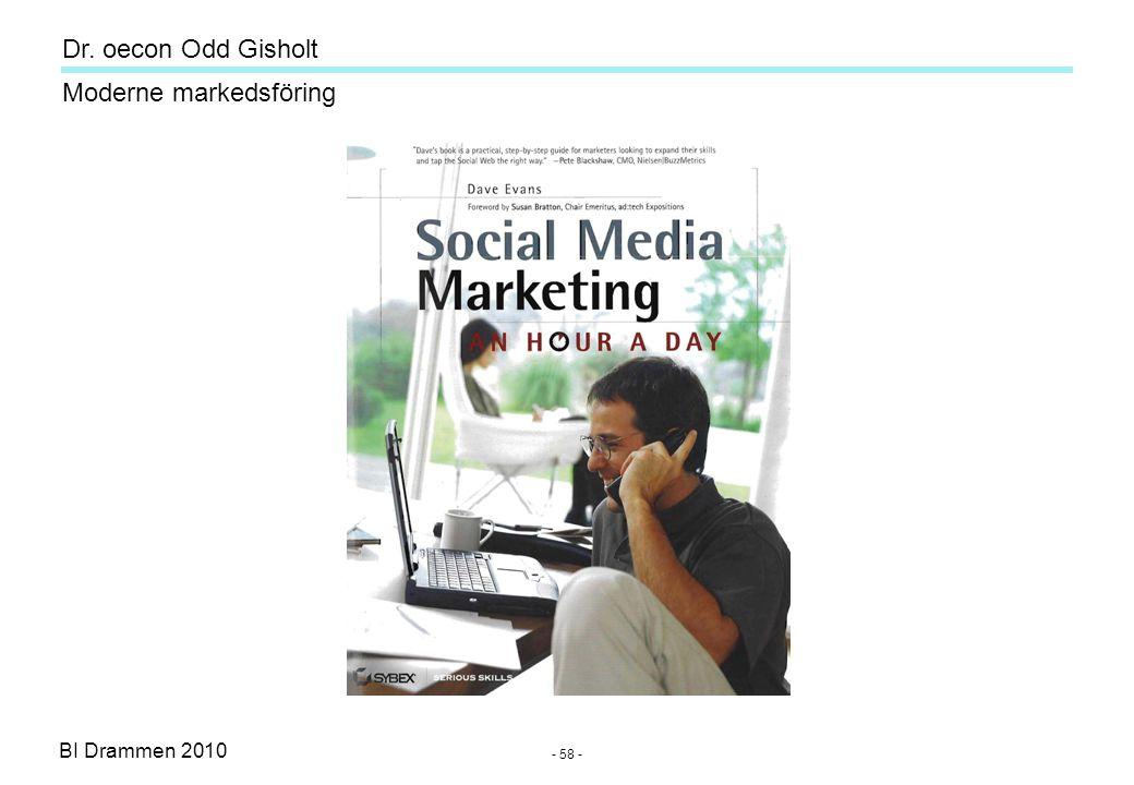 Dr. oecon Odd Gisholt - 57 - BI Drammen 2010 Moderne markedsföring
