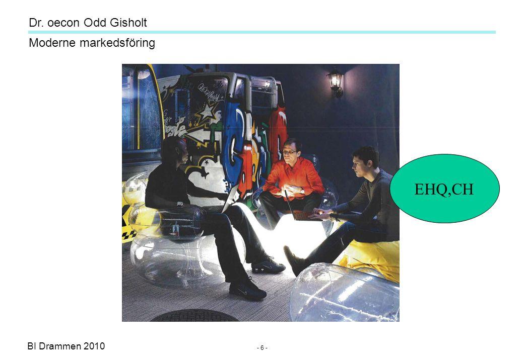 Dr. oecon Odd Gisholt - 6 - BI Drammen 2010 Moderne markedsföring EHQ,CH