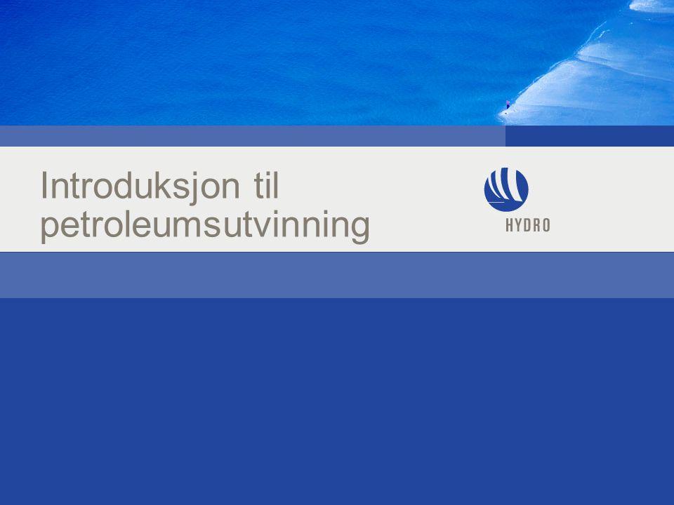 Introduksjon til petroleumsutvinning