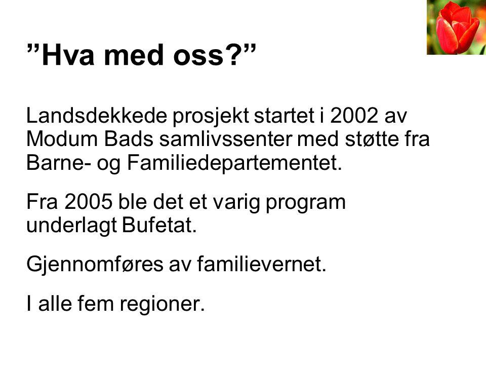 •Samlivskurs for par (2002/2005) •Kurs for aleneforeldre – Hva med meg? (2006) •Oppfølgingskurs for par.