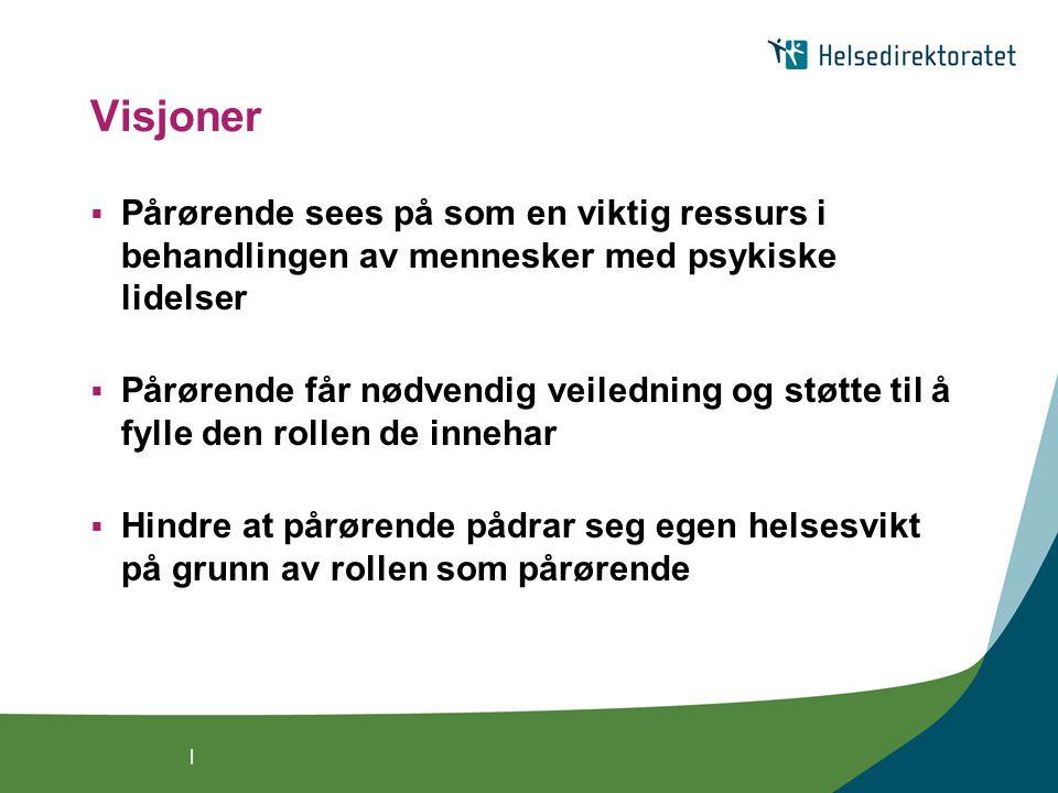 | Hovedmålgruppe: helsepersonell også nyttig for: brukere, pårørende med flere