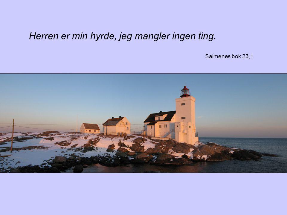 Herren er min hyrde, jeg mangler ingen ting. Salmenes bok 23,1