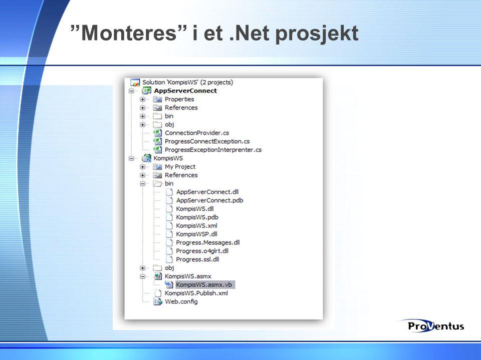 """""""Monteres"""" i et.Net prosjekt"""