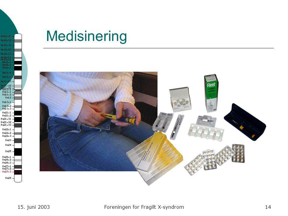 15. juni 2003Foreningen for Fragilt X-syndrom14 Medisinering