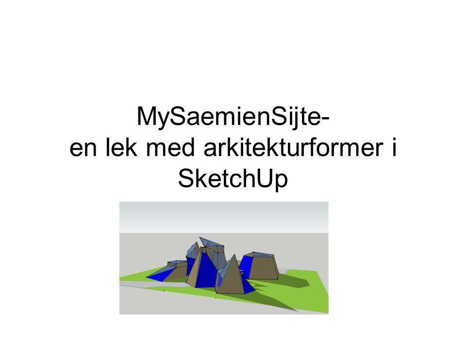 Oppgave •1.Sett deg inn i arkitekturkonkurransen Saemien Sijte og undersøk vinnerutkastet •2.