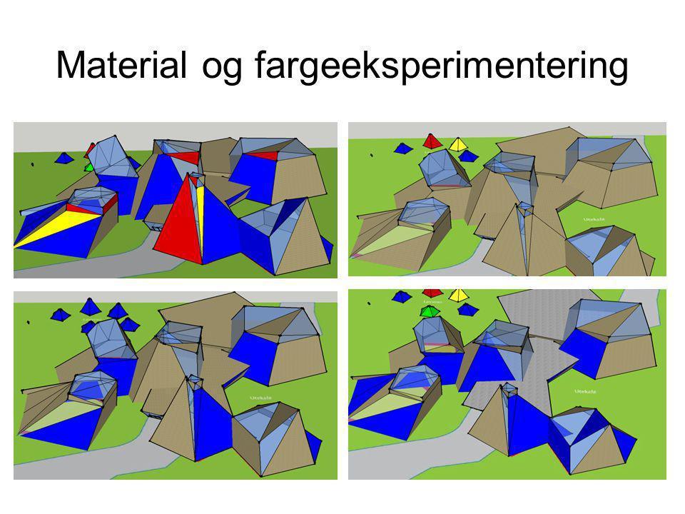 Material og fargeeksperimentering