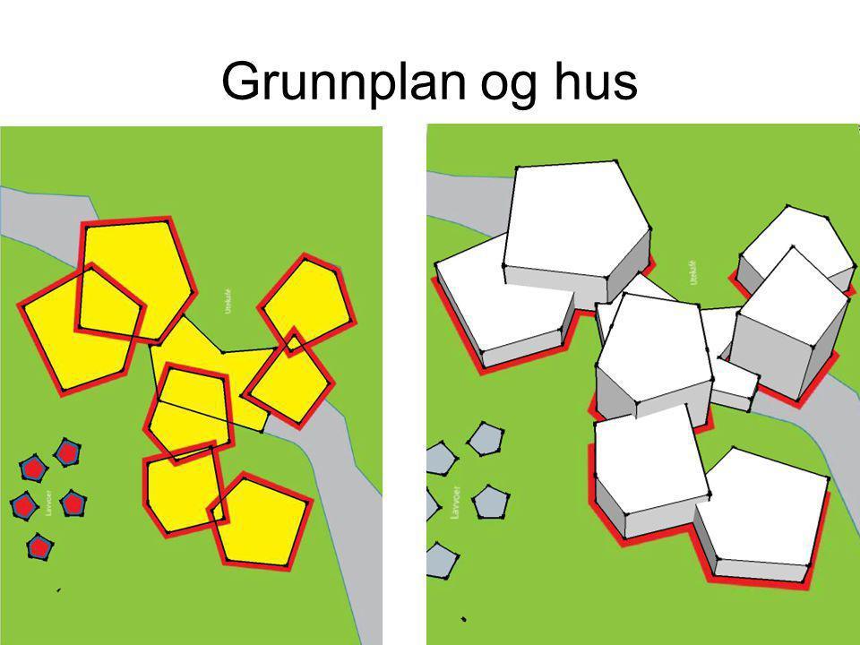 Grunnplan og hus