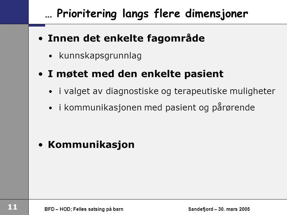 11 BFD – HOD; Felles satsing på barnSandefjord – 30.