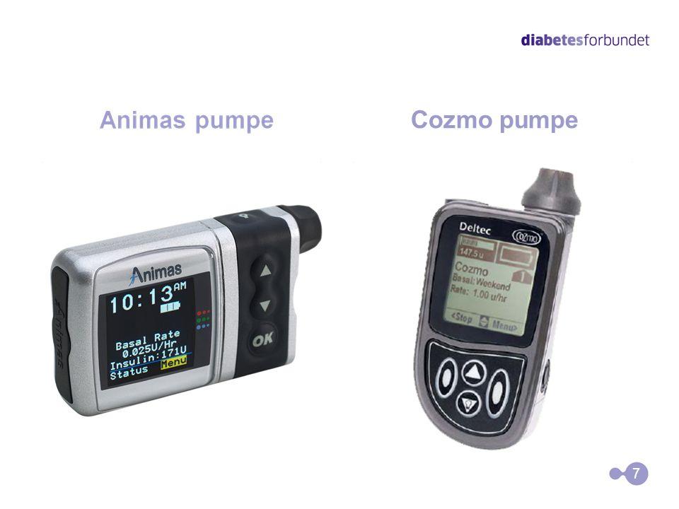 6 Forskjellige insulinpumper Roche pumper
