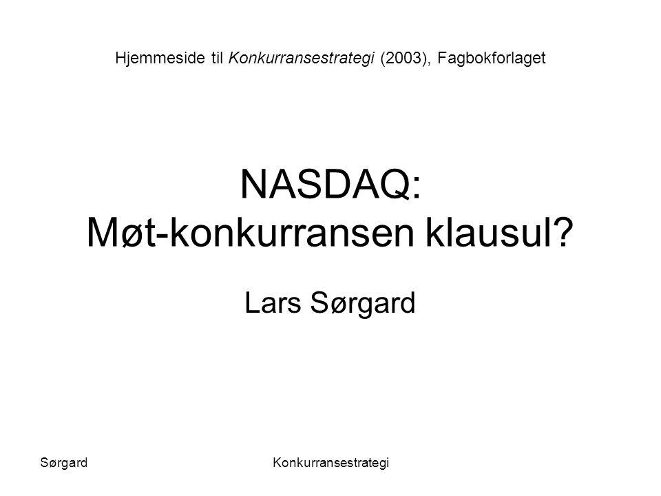SørgardKonkurransestrategi Fordelingen av kjøp-salg margin i juni 2001 Kjøp-salg margin ($ 1/1000) %