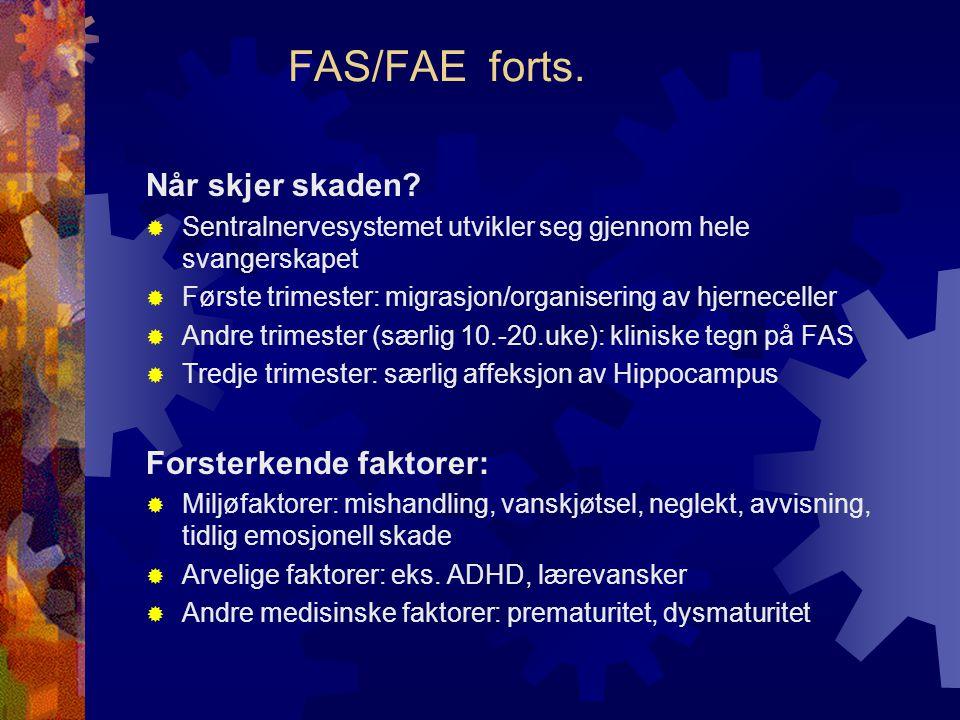 FAS/FAE forts.Når skjer skaden.