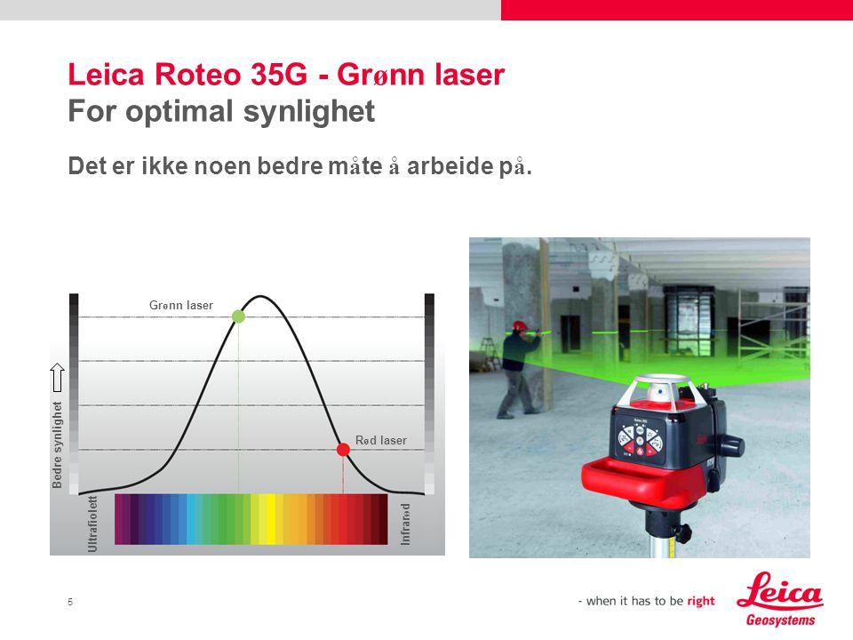 6 Leica Roteo Montering av kj ø kken Med den horisontale laserstr å len er det enkelt å montere kj ø kkenelementene n ø yaktig.