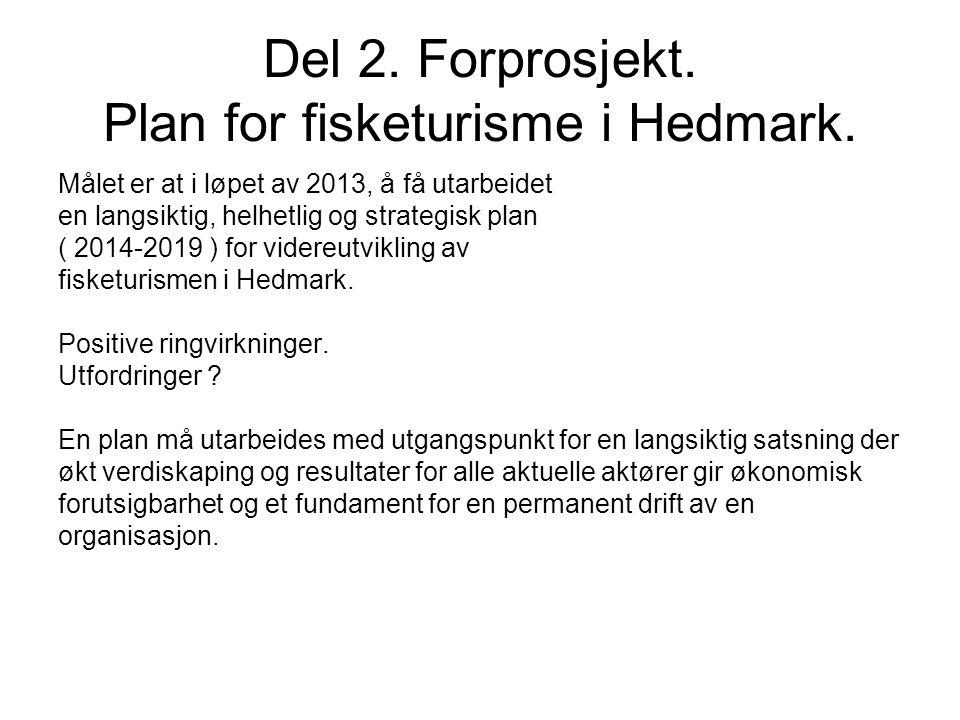 Del 2. Forprosjekt. Plan for fisketurisme i Hedmark.