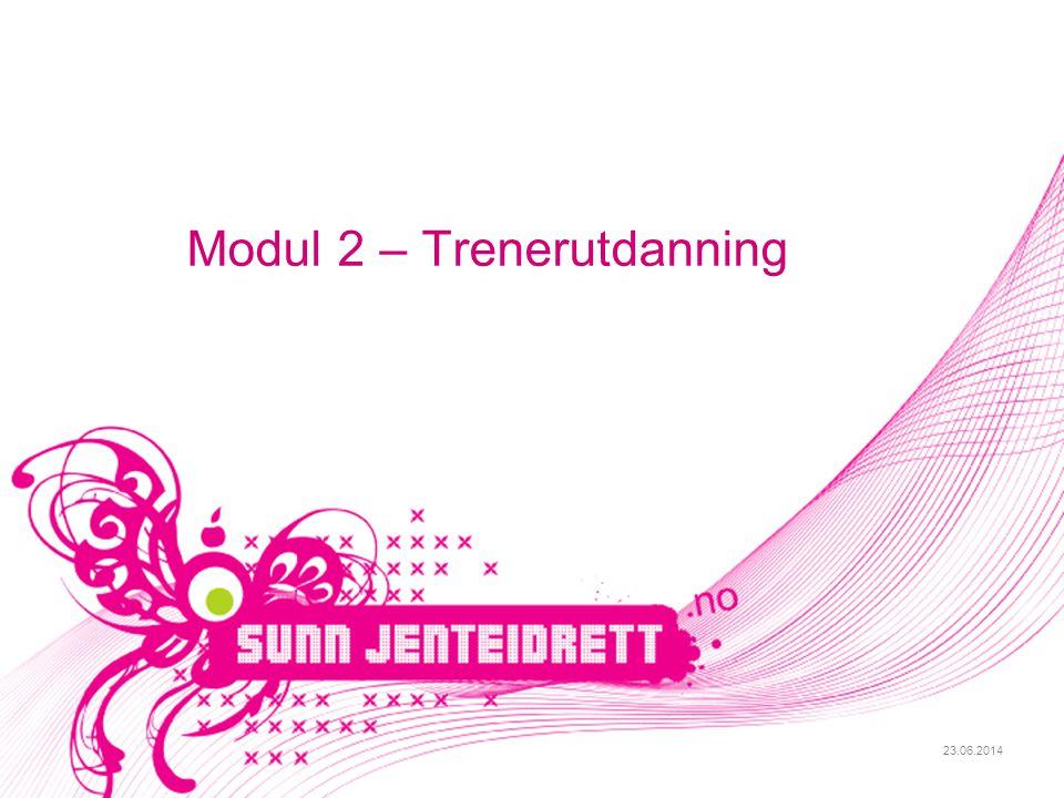 23.06.2014 Modul 2 – Trenerutdanning